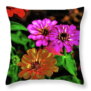Abstract Magellans 68 Throw Pillow