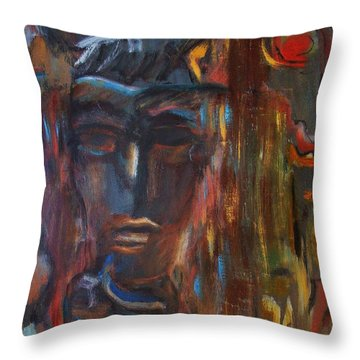 Abstract Man Throw Pillow