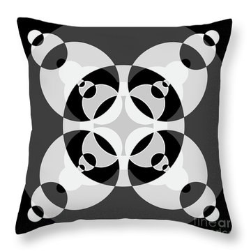 Abstract Mandala Black, Gray And White Pattern For Home Decoration Throw Pillow