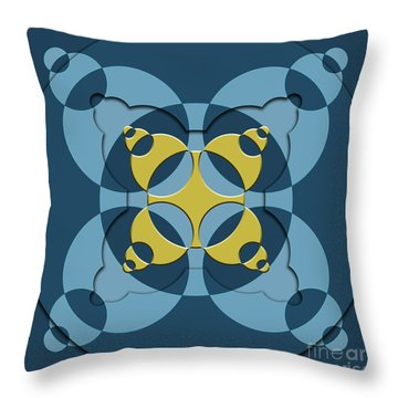 Abstract Mandala Blue, Dark Blue And Green Pattern For Home Decoration Throw Pillow
