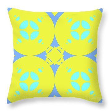 Abstract Mandala Cyan, Dark Blue And Green Pattern For Home Decoration Throw Pillow