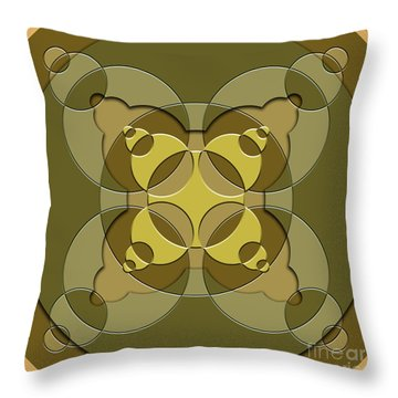 Abstract Mandala Green, Dark Green And Brown Pattern For Home Decoration Throw Pillow