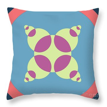Abstract Mandala Orange, Black And Cyan Pattern For Home Decoration Throw Pillow