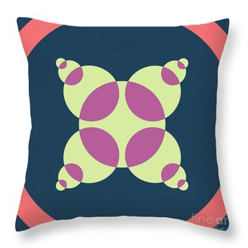 Abstract Mandala Pink, Dark Blue And Cyan Pattern For Home Decoration Throw Pillow