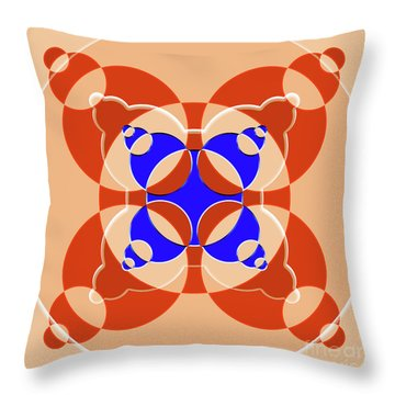 Abstract Mandala Pink, Orange And Blue Pattern For Home Decoration Throw Pillow