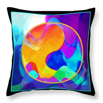 Sunny Sea Throw Pillow by Mathilde Vhargon