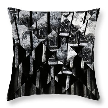 Abstract Matrix Throw Pillow by Michal Boubin