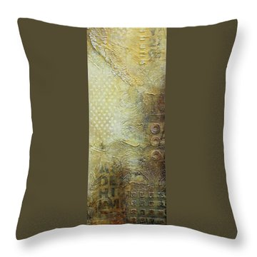 Abstract Modern Art Earth Tones Throw Pillow by Patricia Lintner