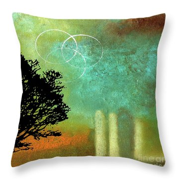 Abstract Modern Art Eternity Throw Pillow by Saribelle Rodriguez