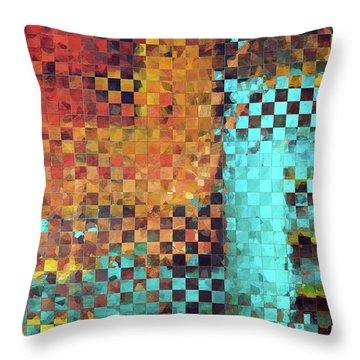 Abstract Modern Art - Pieces 1 - Sharon Cummings Throw Pillow by Sharon Cummings