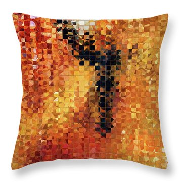 Abstract Modern Art - Pieces 8 - Sharon Cummings Throw Pillow by Sharon Cummings