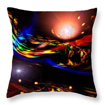 Abstract Mood Throw Pillow
