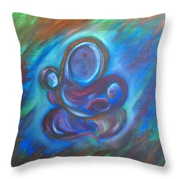 Abstract Mother Throw Pillow