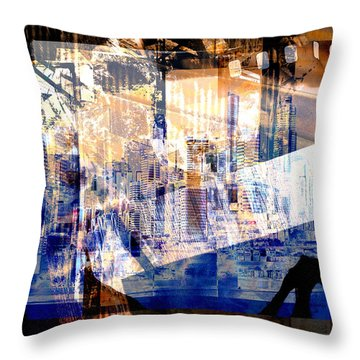 Abstract Movie Throw Pillow