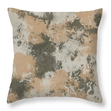Abstract Mud Puddle Throw Pillow