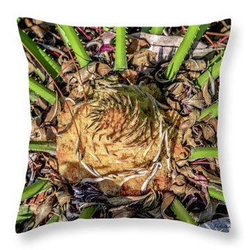 Abstract Nature Tropical Fern 2096 Throw Pillow