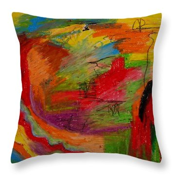 Abstract No. 3 Inner Landscape Throw Pillow