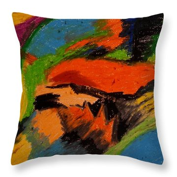 Abstract No. 4 Inner Landscape Throw Pillow