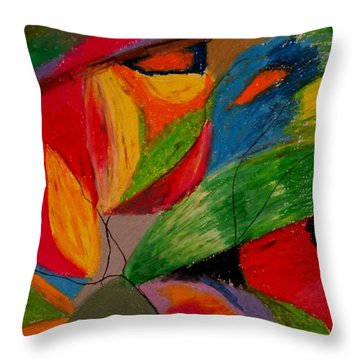 Abstract No. 5 Springtime Throw Pillow