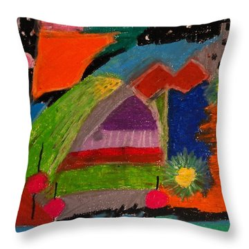 Abstract No. 7 Inner Landscape Throw Pillow