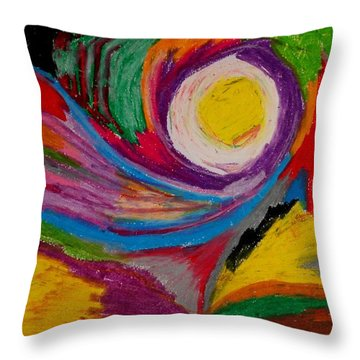 Abstract No.6 Innerlandscape Throw Pillow