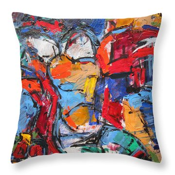 abstract nude II Throw Pillow