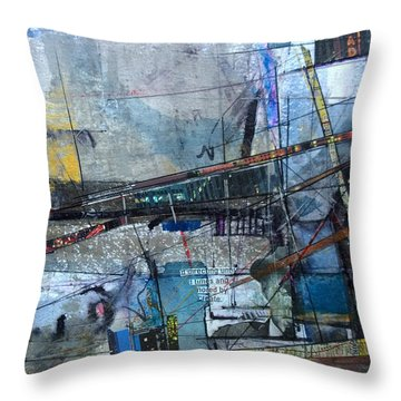 Abstract Nyc #2 Throw Pillow