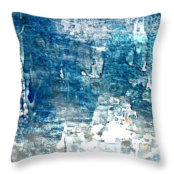 Abstract Ocean Blue Throw Pillow