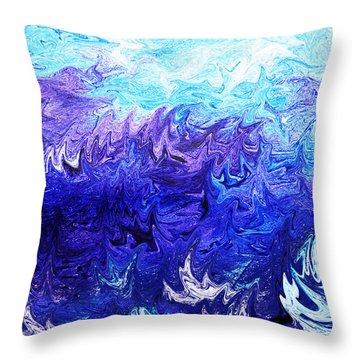 Abstract Ocean Fantasy Four Throw Pillow