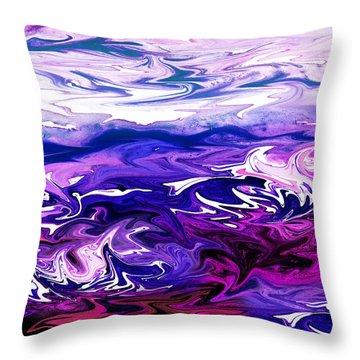 Abstract Ocean Fantasy Three Throw Pillow