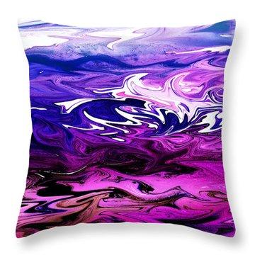 Abstract Ocean Fantasy Two Throw Pillow