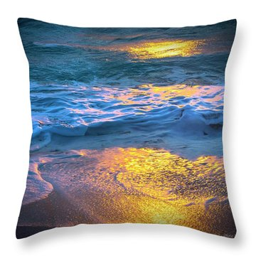 Abstract Of Beach Throw Pillow