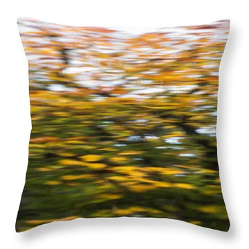 Abstract Of Maple Tree Throw Pillow