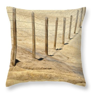 Abstract For Safety Throw Pillow