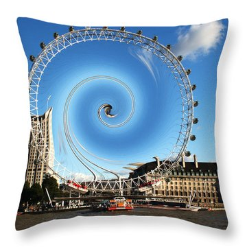 Abstract Of The Millennium Wheel Throw Pillow