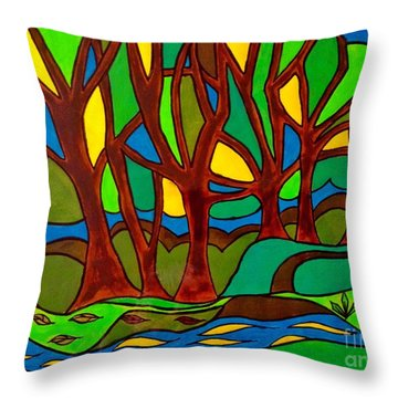 Abstract Of The Otter Pool Throw Pillow