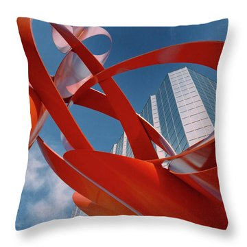Abstract - Oklahoma City Throw Pillow