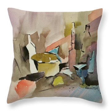 Abstract Opus 4 Throw Pillow