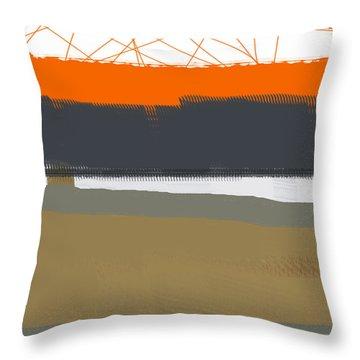 Abstract Orange 1 Throw Pillow