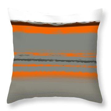 Abstract Orange 2 Throw Pillow