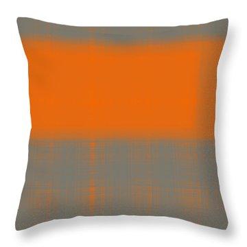 Abstract Orange 3 Throw Pillow