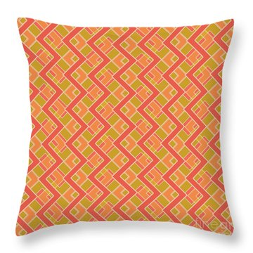 Abstract Orange, Red And Brown Pattern For Home Decoration Throw Pillow