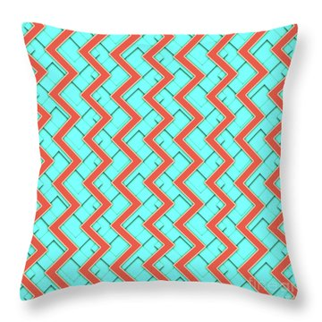 Abstract Orange, Yellow And Cyan Pattern For Home Decoration Throw Pillow