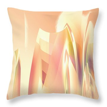 Throw Pillow featuring the digital art Abstract Orange Yellow by Robert G Kernodle