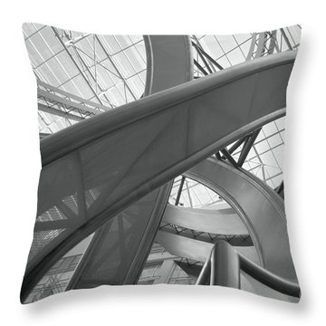 Abstract P O V Throw Pillow