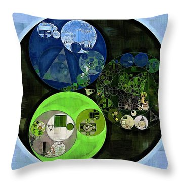 Abstract Painting - Asparagus Throw Pillow