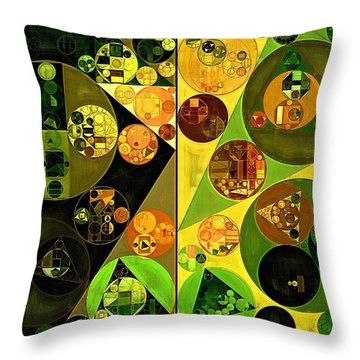 Abstract Painting - Barberry Throw Pillow