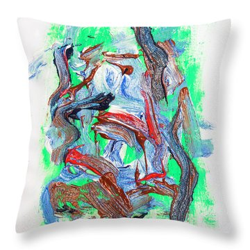 Abstract Painting. Division Is Their Narrative Throw Pillow