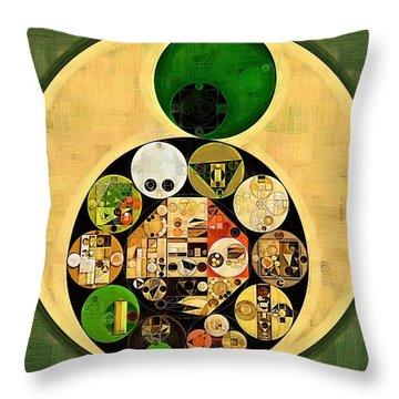 Dark Olive Green Throw Pillows