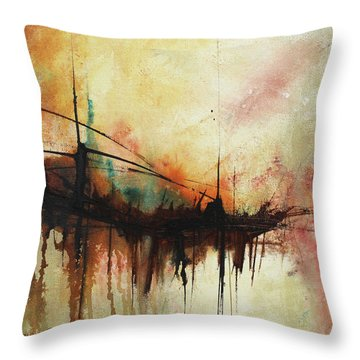 Abstract Painting Contemporary Art Throw Pillow